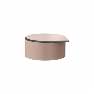 GUTTA S pudełko na biżuterię różowe śr.8cm