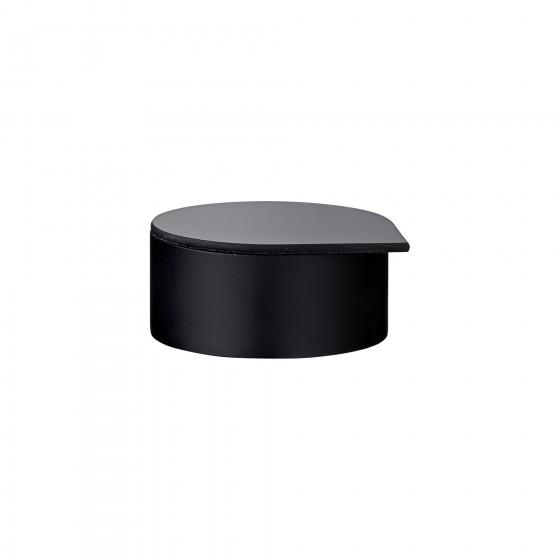 GUTTA S pudełko na biżuterię czarne śr.8cm