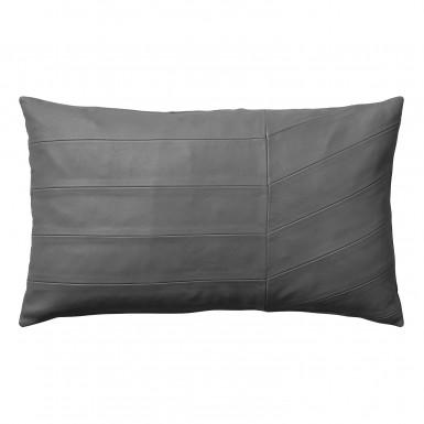 CORIA poduszka szara skórzana 50x30cm