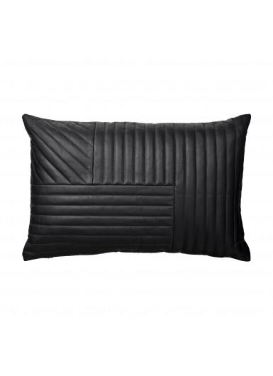 MOTUM skórzana poduszka czarna 60cm