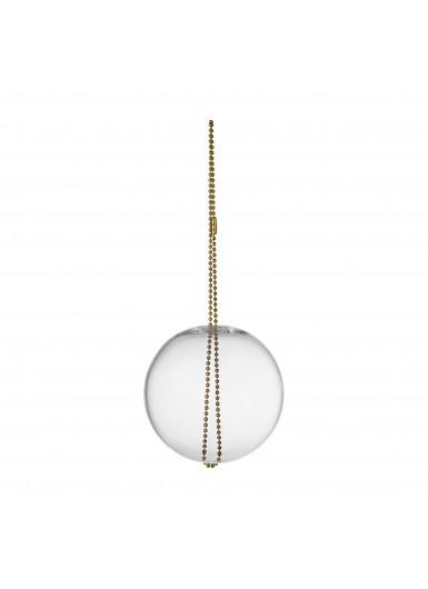 MONILI szklana ozdoba świąteczna przezroczysta śr.7cm