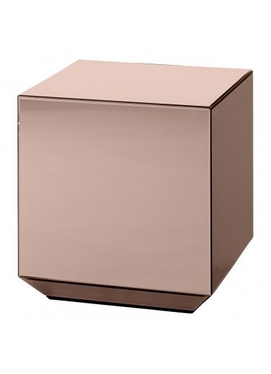 SPECULUM lustrzany stolik sześcian różowy 40cm