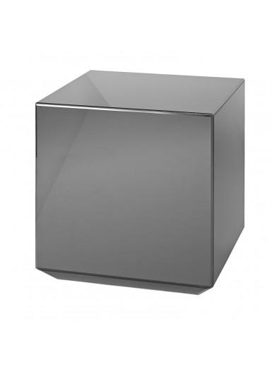 SPECULUM lustrzany stolik sześcian czarny 48cm