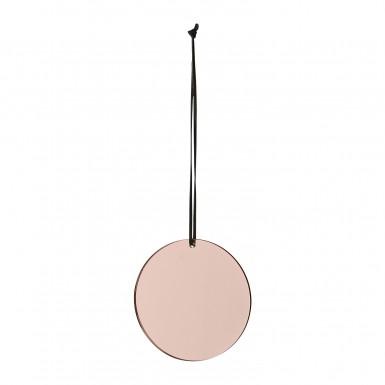 PILA lustro różowe ozdoba wisząca śr.7cm