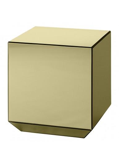 SPECULUM lustrzany stolik sześcian złoty 40cm