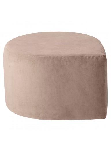 STILLA aksamitna pufa różowa śr.60cm