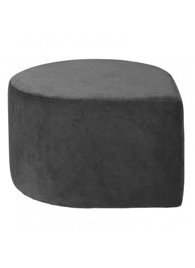 STILLA aksamitna pufa czarna śr.60cm