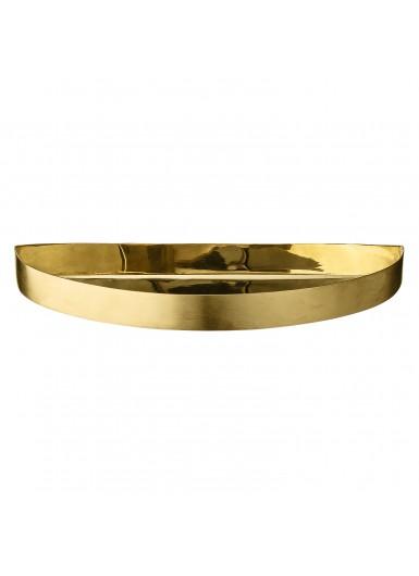 UNITY S ozdobna tacka półokrągła złota 21cm