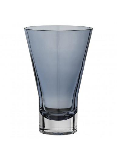 SPATIA szklany wazon niebieski 19cm
