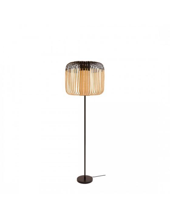 BAMBOO LIGHT lampa podlogowa azurowa z bambusowym kloszem H160cm