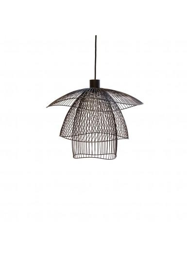 PAPILLON lampa wiszaca czarna azurowa sr.56cm