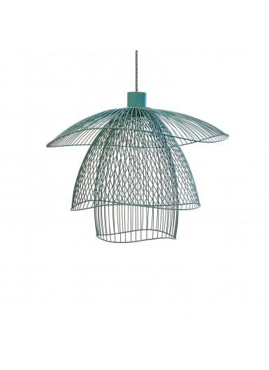 PAPILLON lampa wiszaca niebieska azurowa sr.56cm