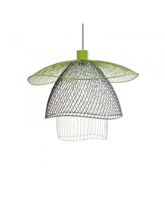PAPILLON lampa wiszaca trojkolorowa azurowa sr.56cm