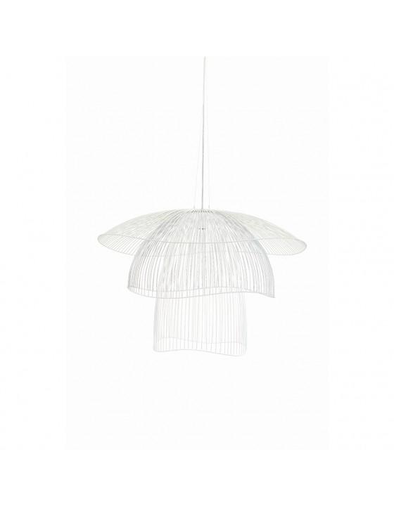 PAPILLON lampa wiszaca biala azurowa sr.56cm