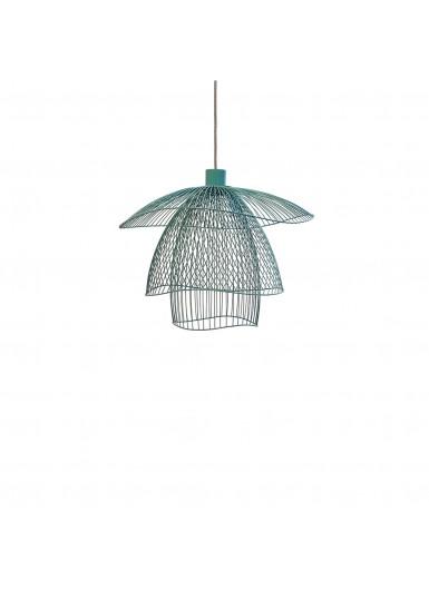 PAPILLON lampa wiszaca niebieska azurowa sr.100cm