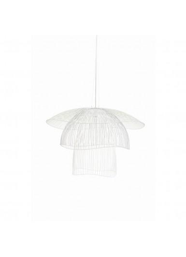 PAPILLON lampa wiszaca biala azurowa sr.100cm