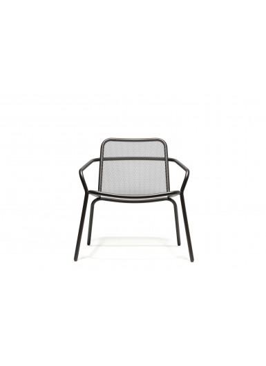 STARLING krzeslo ogrodowe klasyczne z podlokietnikami niskie H69cm