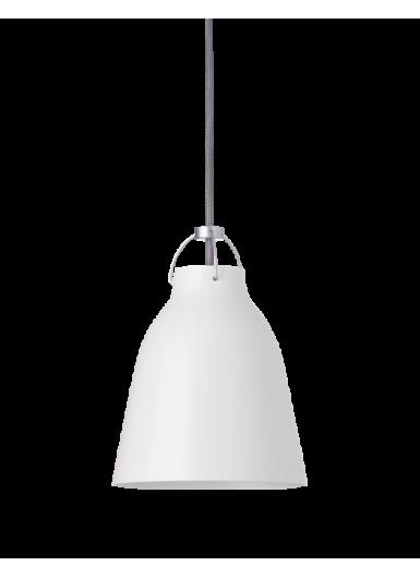 CARAVAGGIO P1 wisząca biały błysk szary sznur 6m H16,5cm