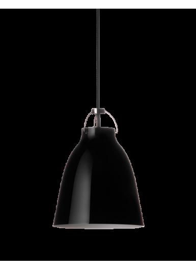 CARAVAGGIO  P1 wisząca czarny połysk czarny sznur 6m H16,5cm