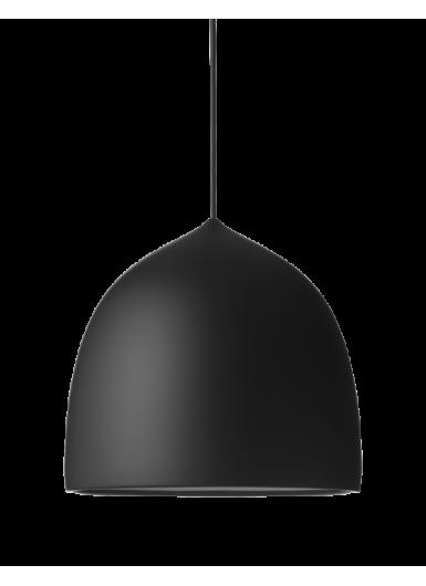 SUSPENCE P2 wisząca czarna z czarnym kablem 6m