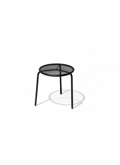 STARLING S stolik ogrodowy metalowy z ażurowym blatem śr.44cm
