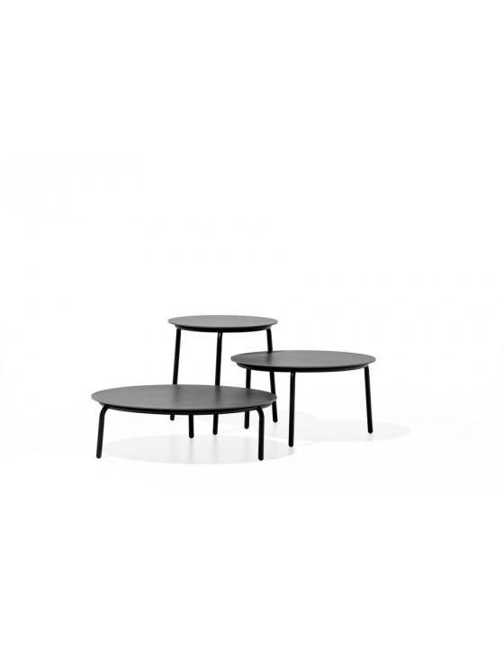 STARLING S niski stolik z ceramicznym blatem śr.50cm