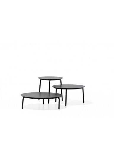 STARLING M niski stolik z ceramicznym blatem śr.64cm