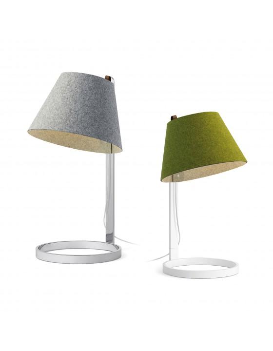 LANA MAŁA lampka biurkowa/nocna klosz zielony biała baza