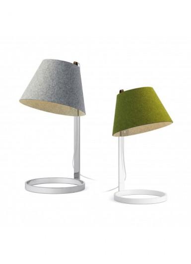 LANA DUĹ»A lampka biurkowa/nocna klosz szary biała baza