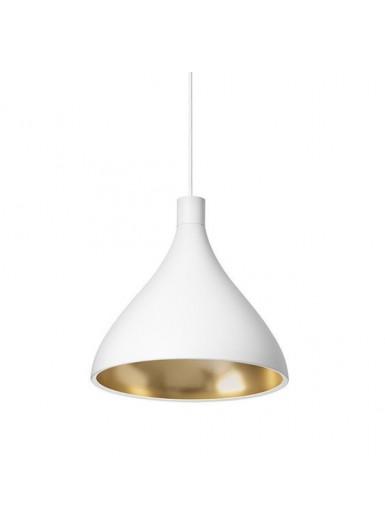 SWELL MEDIUM lampa wisząca biało-złota