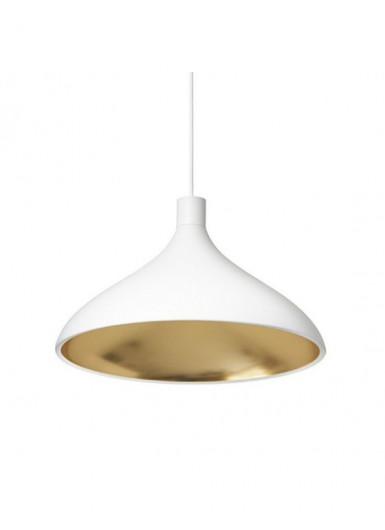 SWELL WIDE lampa wisząca biało-złota