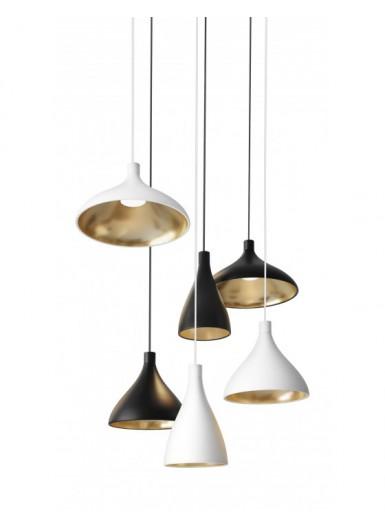 SWELL WIDE lampa wisząca czarno-złota