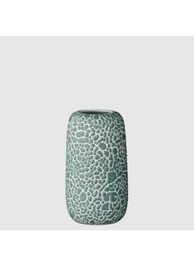 GEMMA S błękitny ozdobny wazonik ceramiczny H10cm