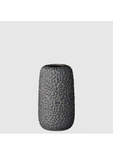 GEMMA S ciemny szary ozdobny wazonik ceramiczny H10cm