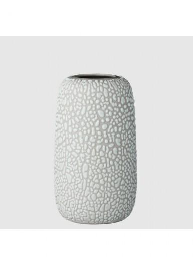 GEMMA M jasny szary ozdobny wazonik ceramiczny H13cm
