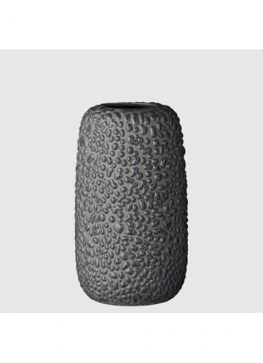GEMMA M ciemny szary ozdobny wazonik ceramiczny H13cm
