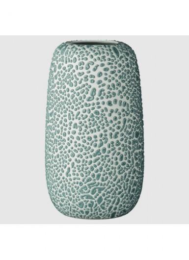 GEMMA L błękitny ozdobny wazonik ceramiczny H16cm