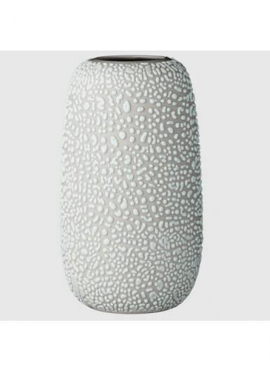 GEMMA L jasny szary ozdobny wazonik ceramiczny H16cm