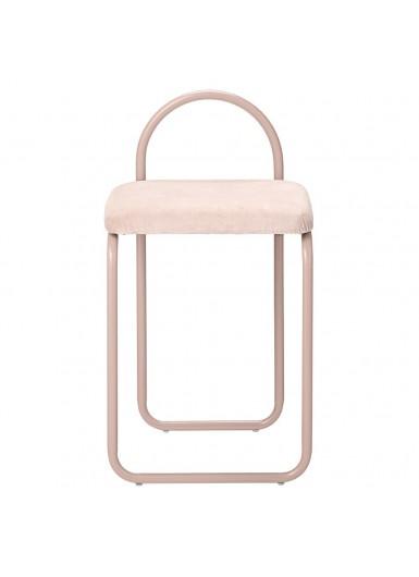 ANGUI krzesło z aksamitnym siedziskiem różowe na różowe nogach