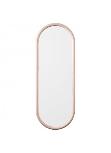 ANGUI S designerskie lustro w ramie podłużne różowe