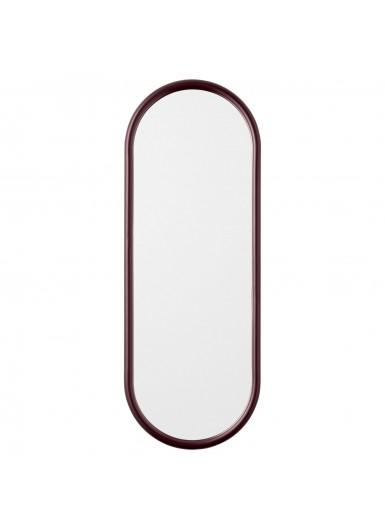 ANGUI S designerskie lustro w ramie podłużne bordowe