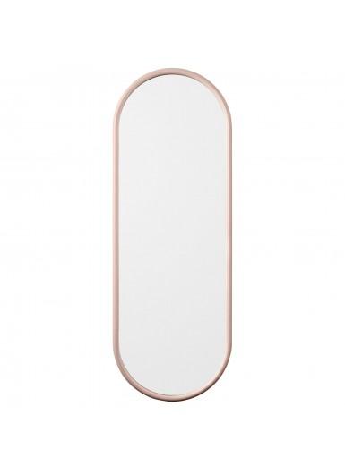 ANGUI L designerskie lustro w ramie podłużne różowe
