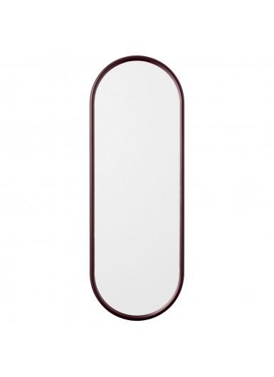 ANGUI L designerskie lustro w ramie podłużne bordowe