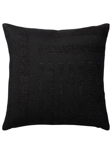 CONTRA poduszka aksamitna czarna, wzór geometryczny