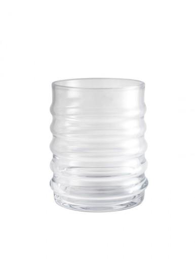 Wilma Clear szklany pojemnik z czarnym korkiem