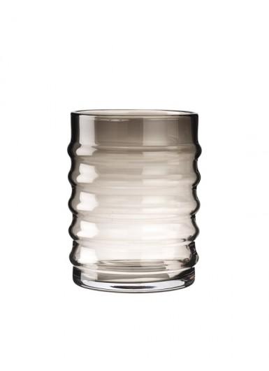 Wilma Smoke szklany pojemnik z czarnym korkiem