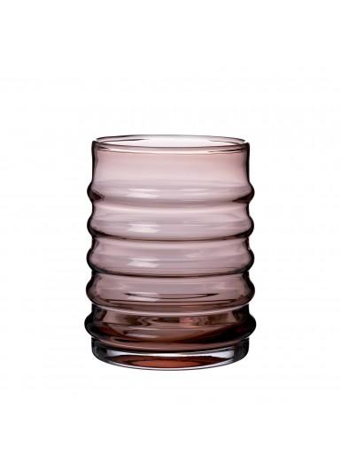 Wilma Burgundy szklany pojemnik z czarnym korkiem