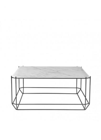 Jewel stolik kawowy blat biały marmur 80x80cm