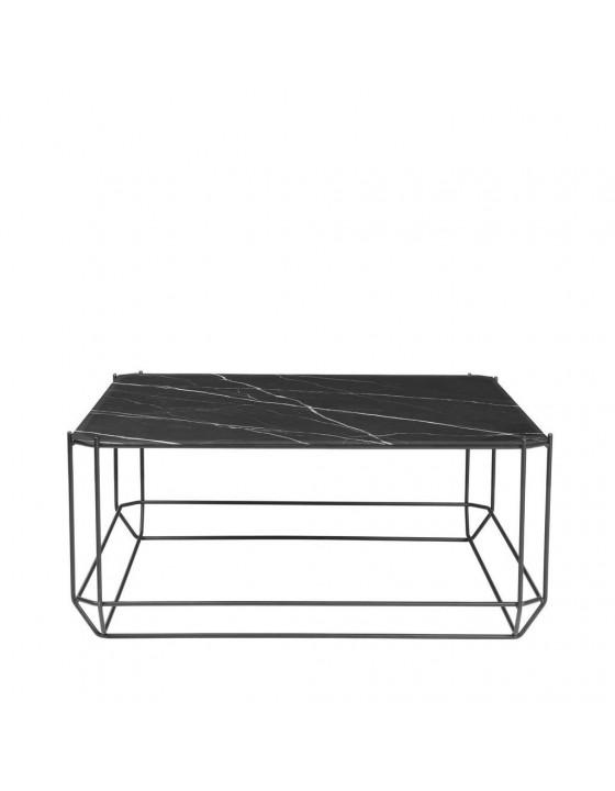 Jewel stolik kawowy czarny marmur 80x80cm