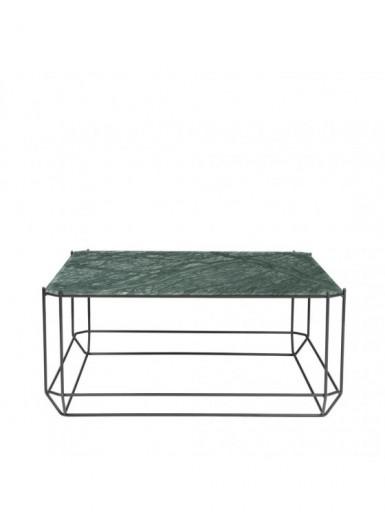 Jewel stolik kawowy zielony marmur 80x80cm